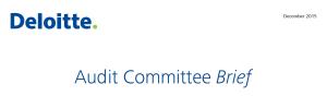 Deloitte Audit Committee Brief December 2015