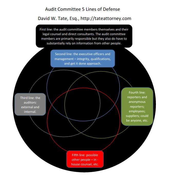 Audit Committee 5 Lines of Defense 02132016 David W. Tate, Esq.