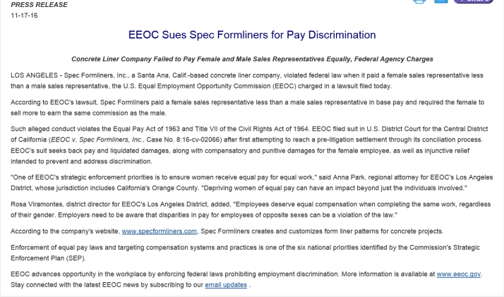 eeoc-sues-for-alleged-unequal-female-male-pay-for-the-same-employment-position